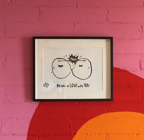 BEING IN LOVE WITH YOU |Giclèe print