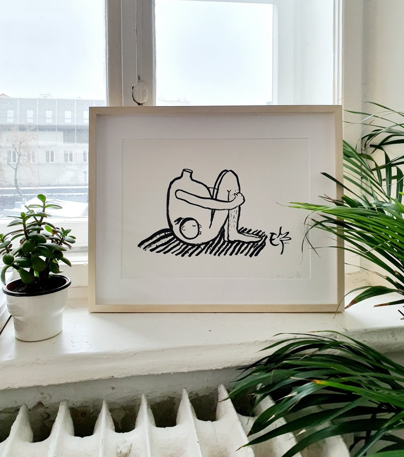 Everything Is At The Right Place   Riso print