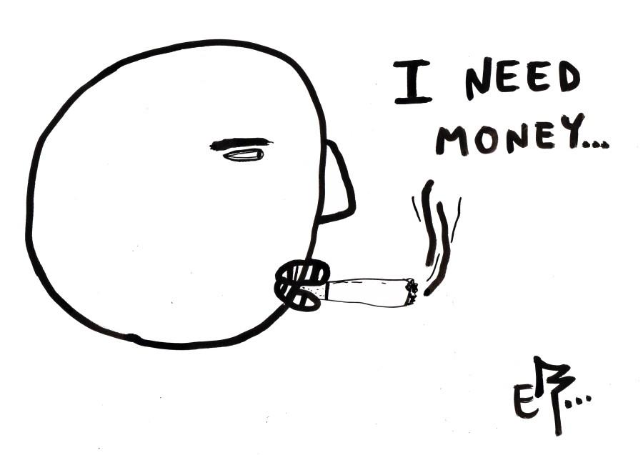I Need Money | Riso print
